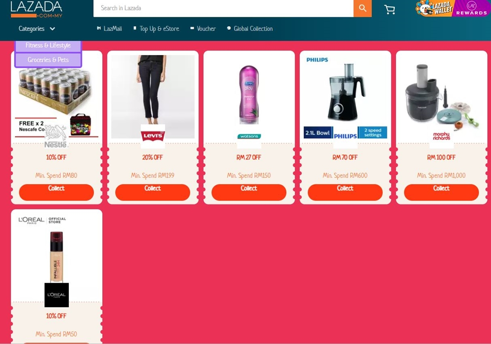 shopcoupons, byrawlins, Lazada, Lazada 7th Birthday, Shopee Mega Fashion & Beauty Sale, Rawlins GLAM