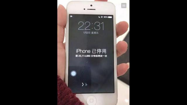 iPhone bị khóa 47 năm vì nhập sai mật khẩu quá nhiều lần