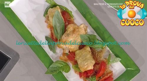 Baccalà fritto con porri e pomodori ricetta Facchini da Prova del Cuoco