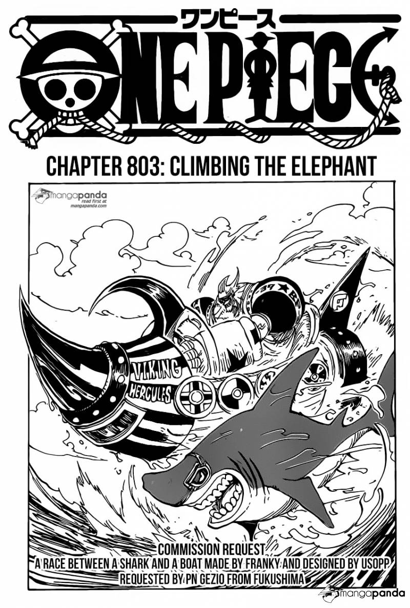 One Piece Ch 803: Climbing the Elephant