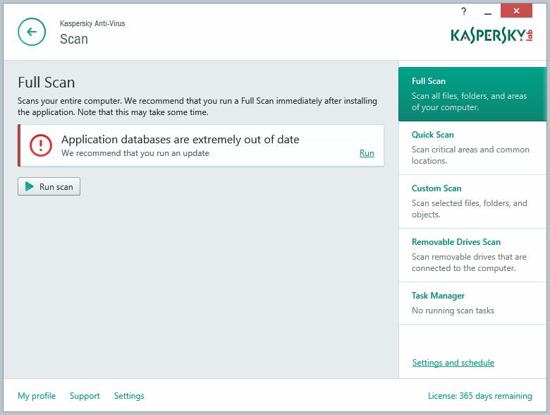 Kaspersky Anti-Virus là tuyến phòng thủ đầu tiên của máy tính trước những mối đe dọa phần mềm độc hại phức tạp ngày nay