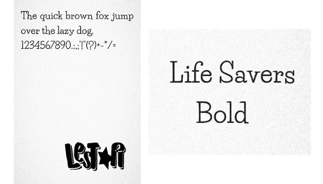 Life Savers Font .itz For Vivo