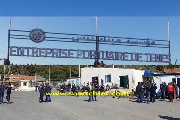 عمال مؤسسة ميناء تنس يدخلون في اضراب عن العمل