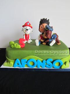 A Patrulha Pata no 5º aniversário do Afonso