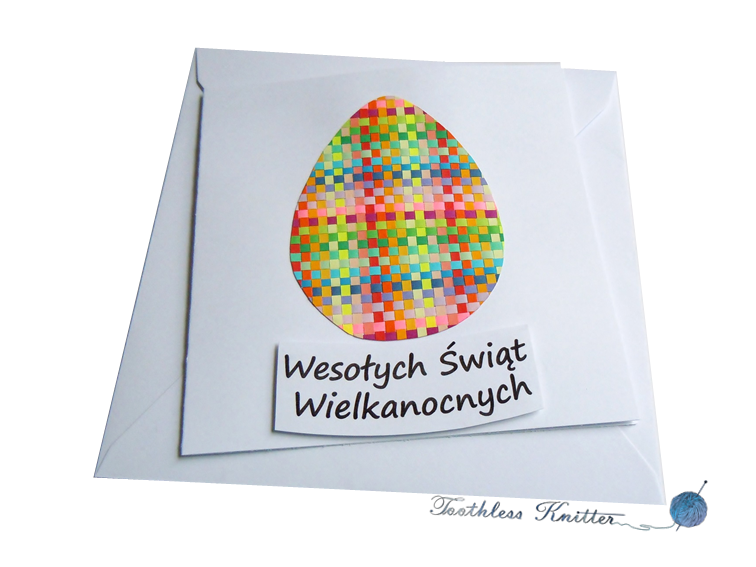 Easter Egg Card / Kartka Wielkanocna z Jajkiem