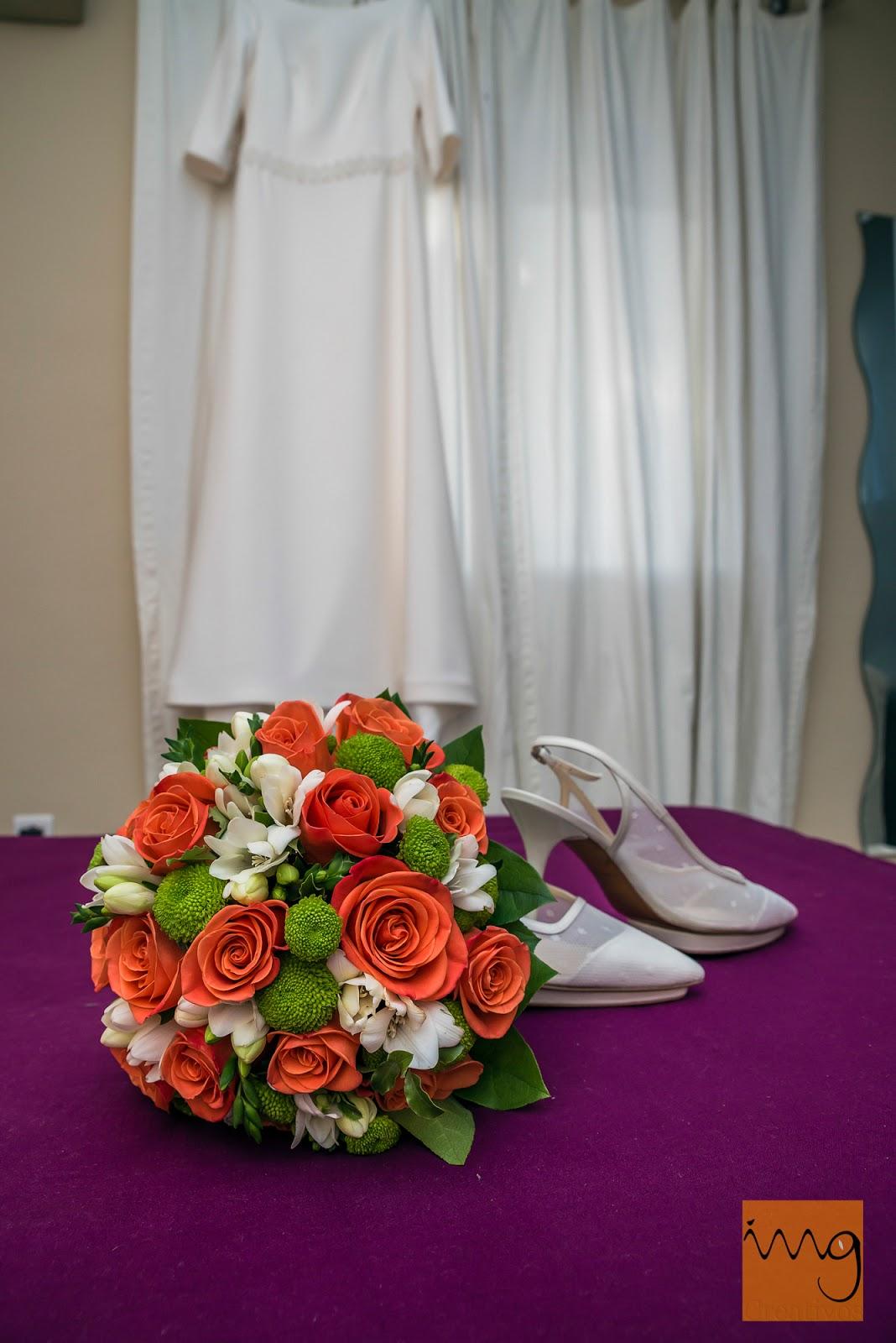 Fotos de detalle del ramo de novia