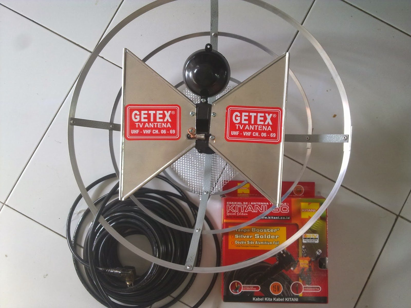 antena tv uhf dan set top box dvb t2 purwokerto blogger