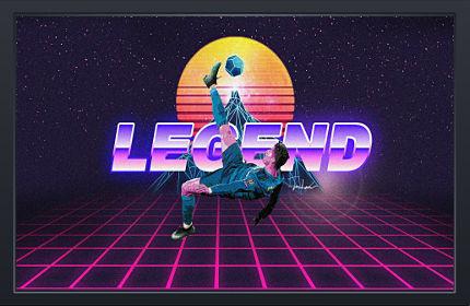 La Légende Cristiano Ronaldo Rétro - Fond d'écran en Full HD