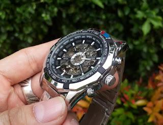 Jam Automatic Mechanical Winner 340 Men Skeleton Sport Watch Relogio Masculino