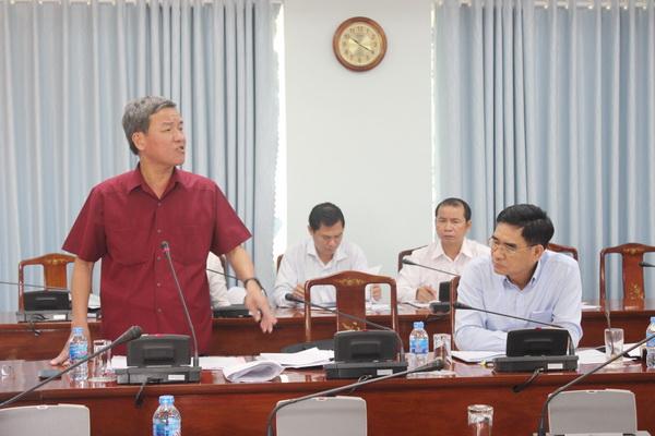 Chủ tịch UBND tỉnh Đinh Quốc Thái phát biểu tại cuộc họp