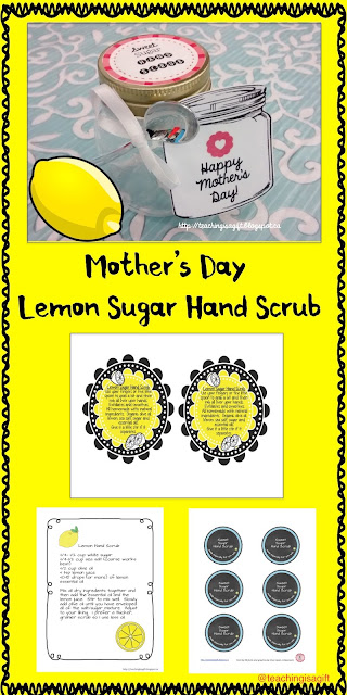 How To Make Lemon Sugar Hand Scrub for Mother's Day from www.teachingisgift.blogspot.ca
