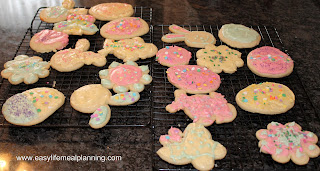 Easter Frosted & Decorated Sugar Cookies - Easy Life Meal & Party Planning