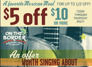 image about On the Border Printable Coupons referred to as Border restaurant discount coupons - Busy Financial savings