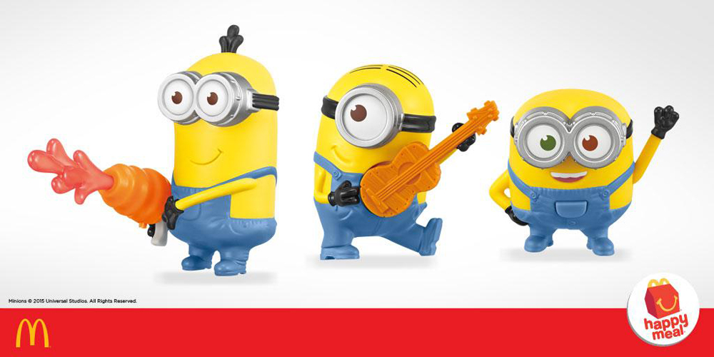 McDonald's Indonesia presents 10 Minions Happy Meal Toys
