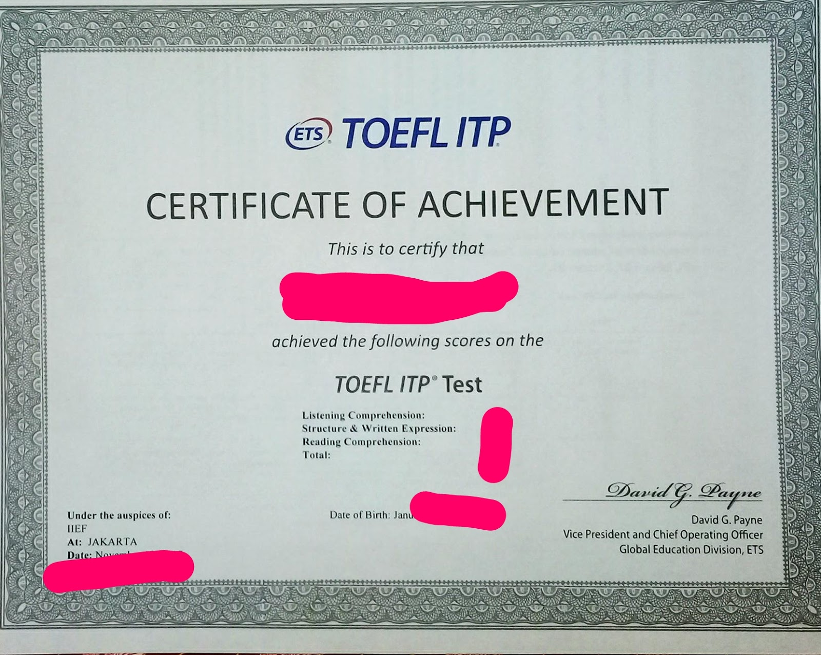 A Story Of My Life Pengalaman Tes Toefl Itp
