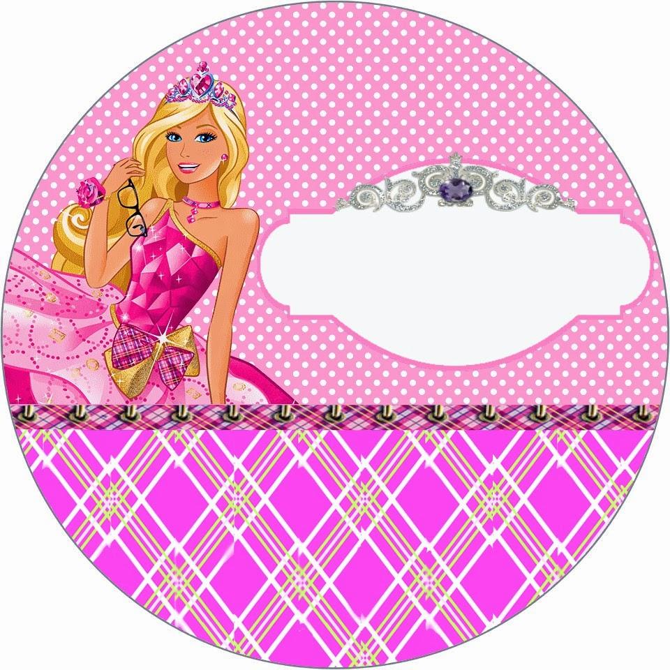 Fazendo A Propria Festa Kit Personalizados Tema Barbie Escola De