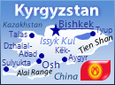 GeoFact of the Day Blog Map of Kyrgyzstan