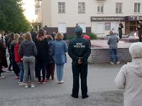 """(ФОТО) сотрудники МЧС приняли участие в акции """"Свеча памяти"""""""