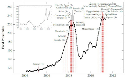 Random Policy: Food Prices and Political Crises