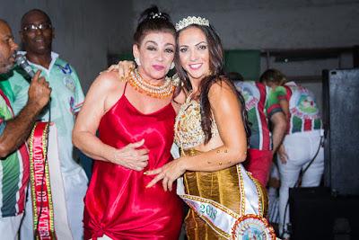 madrinha e rainha de bateria