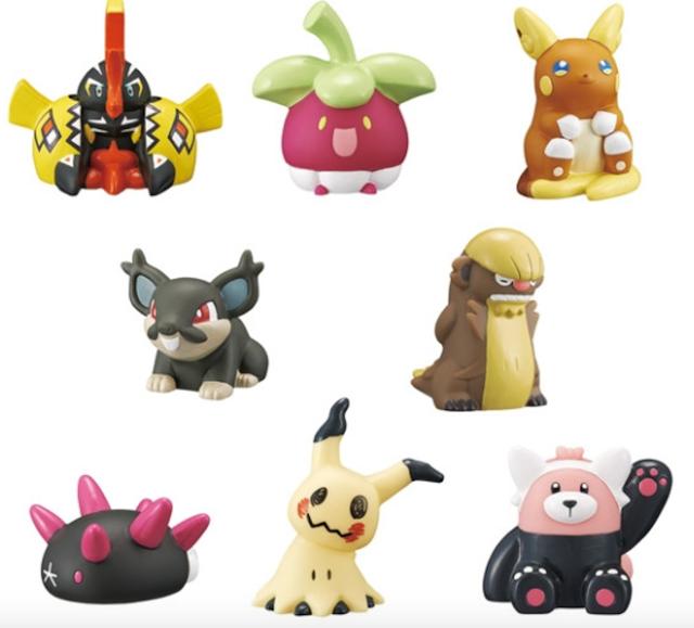 Se van a lanzar figuras basadas en los pokémon Alola