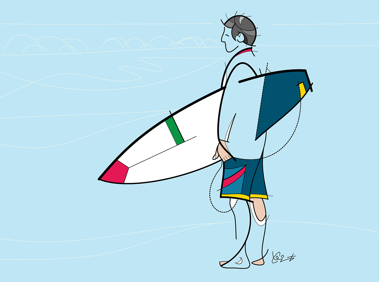 El surf de líneas y curvas de Clint Graphisssste