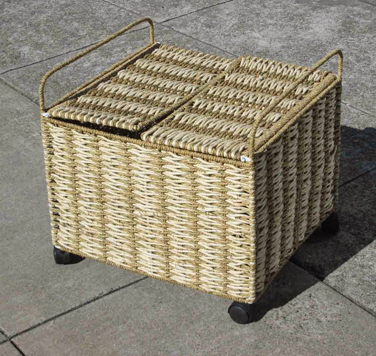 Hamper On Wheels Uhuru Furniture And Collectibles Sold Wicker Basket On
