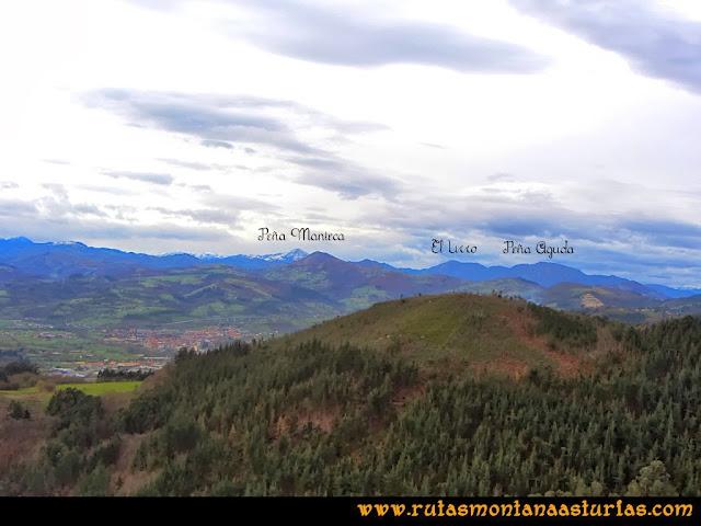 Rutas Montaña Asturias: Vistas de Peña Manteca, El Urro y Peña Aguda desde Peña Escrita
