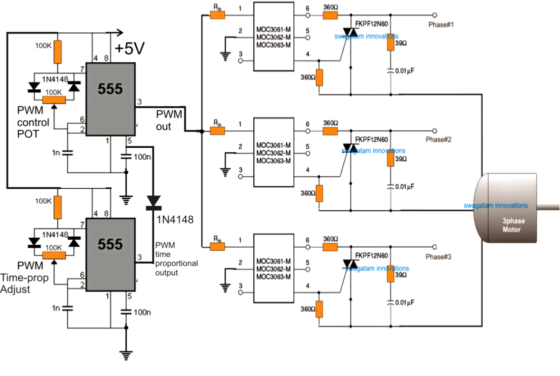 3 Phase Induction Motor Speed Controller How To Build Dc Assumed Waveform And Control Using The Above Concept