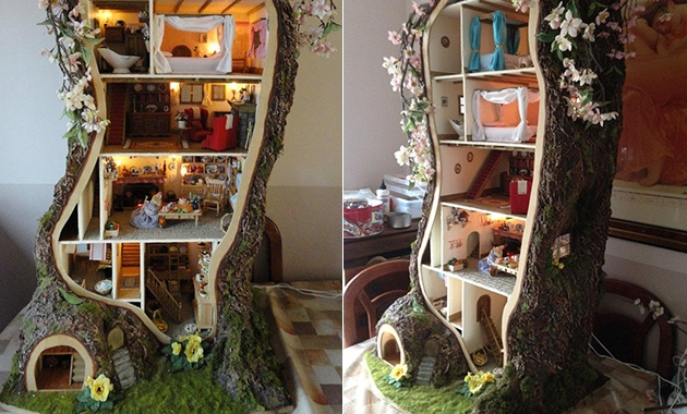 Tree doll's house