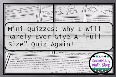 "Mini-Quizzes: Why I Will Rarely Ever Give A ""Full Size"" Quiz Again!"