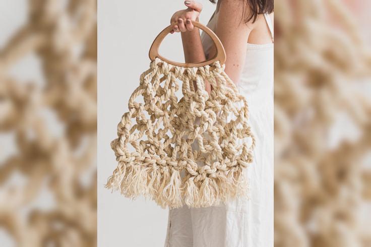 Macrame Tote Bag made with Jute