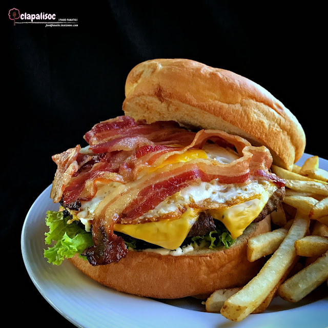 Classic American Burger from Firefly Roofdeck Bar