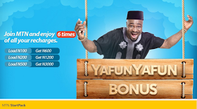 New Package :  Subscribe to MTN Startpack and get 6times Bonus on Every Recharge price in nigeria