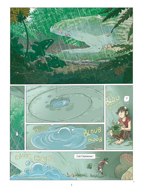 """page de """"NESKA DU CLAN DU LIERRE T2"""" de Louise Joor chez Delcourt"""