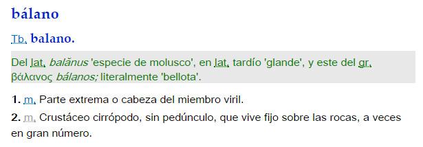 Balano - definición
