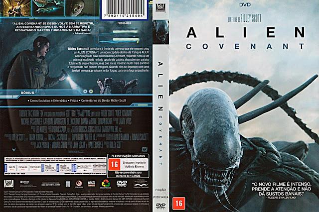 Capa DVD Alien: Covenant