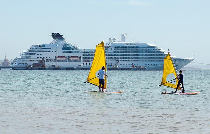 Escuela de mar, recreación educativa en Puerto Madryn