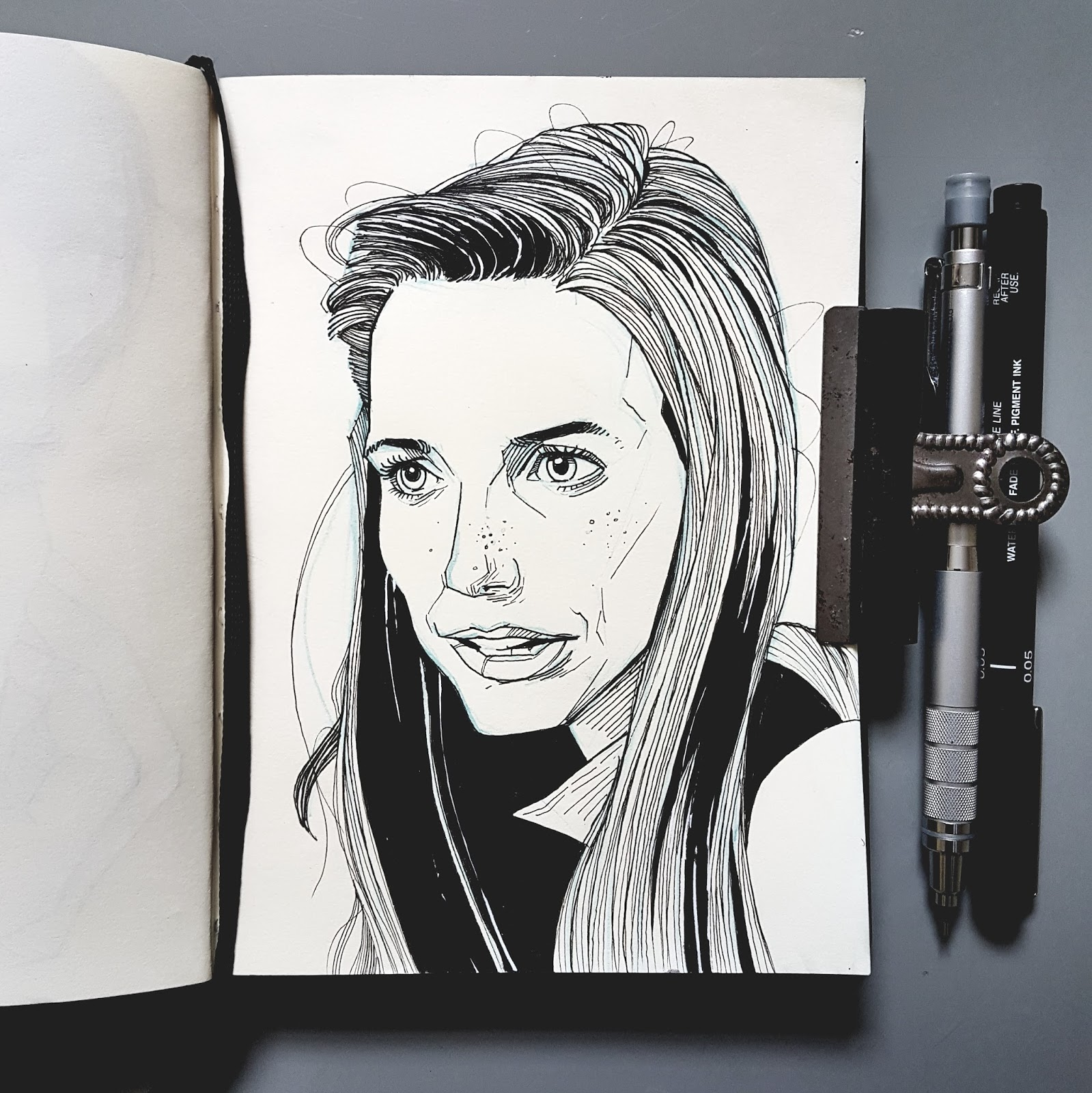 Illustration Karen Allen sketchbook
