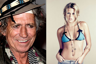 Keith Richards y su hija Theodora Richards