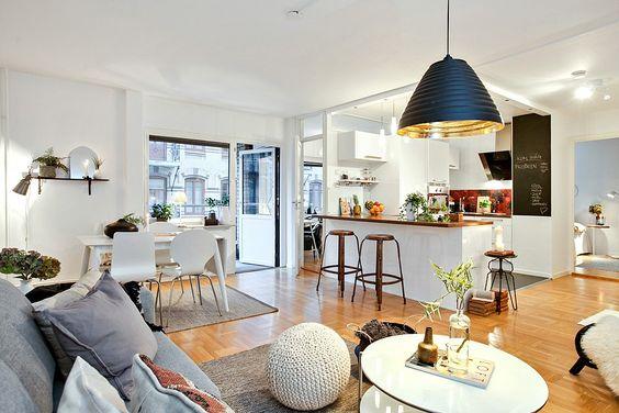 Hogar diez sal n comedor y cocina en el mismo espacio - Unir cocina y salon ...