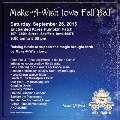 Make-A-Wish Iowa Fall Ball September 26, 2015 Enchanted Acres