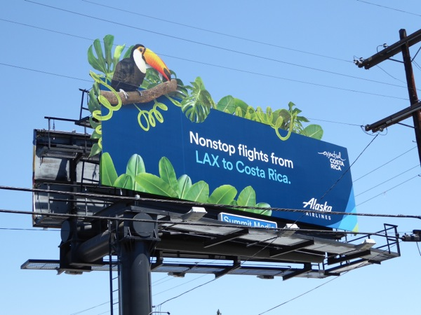 Alaska Airlines LAX Costa Rica Toucan billboard