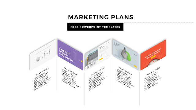 Infographic Marketing Plan Free PowerPoint Template Slide 1