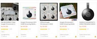 Harga google chromecast versi kabel di Tokopedia