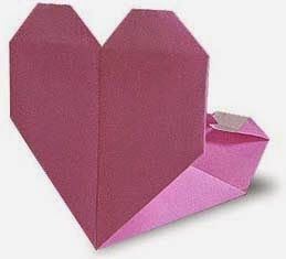 Origami Hearts for Valentine's Day - OneColorfulDay | 235x259