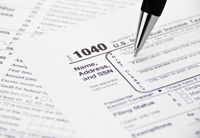 stock image of tax form