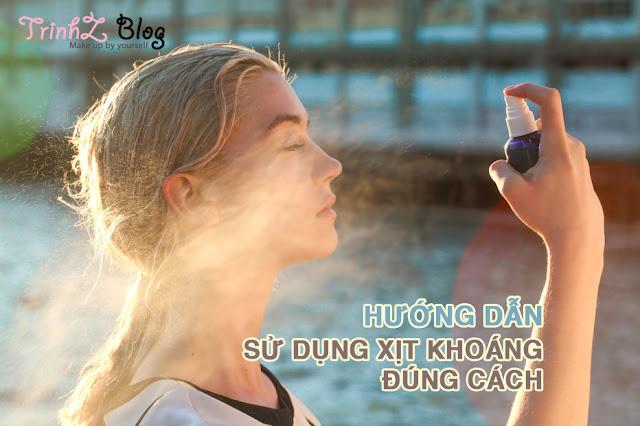 cách sử dụng xịt khoáng dưỡng ẩm