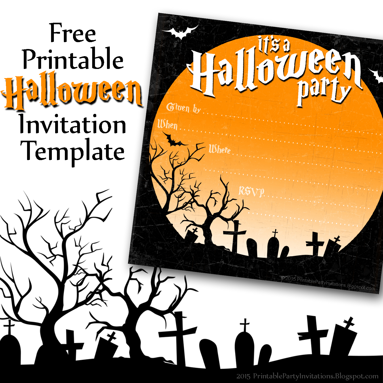 It is an image of Free Printable Halloween Invitations for 13 year old