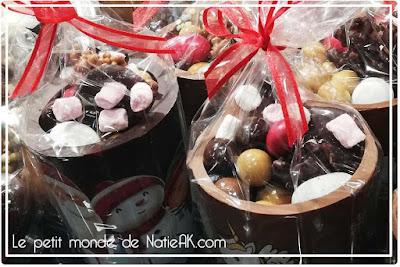 Mug en chocolat Noël l'art chocolatier Stéphane Roux